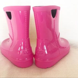 NEW Ugg Kids Rahjee Diva Pink Rainboot Size 11